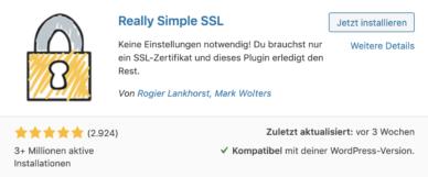 SSL in WordPress einrichten mit Really Simple SSL